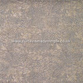 Galapago - 09 - Detailed grey lines intricately patterning light brown coloured viscose-polyamide-polyester blend fabric