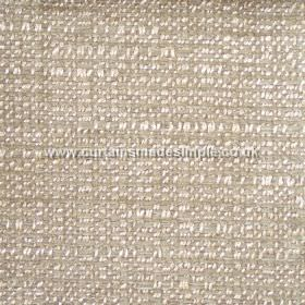 Oceanic - 16 - Polyester, cotton and viscose blend fabric in milk white and light brown