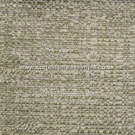 Oceanic - 03 - Two light shades of green woven along with silver into a polyester, cotton and viscose blend fabric