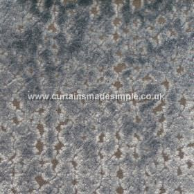 Atlantis - 04 - A dark grey viscose fabric background behind a blotchy pattern in dark blue and white