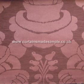Traviata - 02 - Linen and silk blend fabric with a large, simple design in dusky shades of red and pink