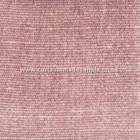 Gobi - 19 - Fabric with a viscose, jute and cotton blend, cords running horizontally giving texture and dusky pink and white colours