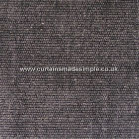Gobi - 04 - Fabric in a very dark grey colour flecked with white and made with a slight texture from viscose, jute and cotton