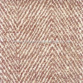 Altai - 02 - Zigzag pattern fabric with narrow white and copper coloured stripes on fabric made from a variety of materials