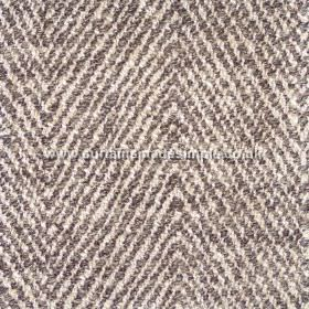 Altai - 01 - Cream and dark grey narrow stripes making up a zigzag pattern on woven, blended fabric