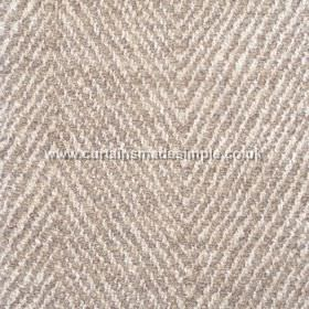 Altai - 06 - Blended fabric made with a repeated pattern of narrow coffee and cream coloured zigzags