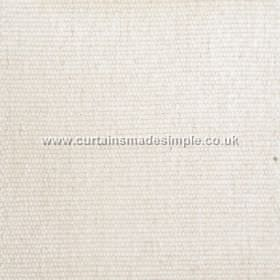 Gobi - 07 - Chalk coloured viscose-jute-cotton blend fabric with a slightly thick texture
