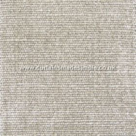 Gobi - 09 - Fabric made from viscose, jute and cotton in grey and off-white, with a texture that runs in horizontal rows