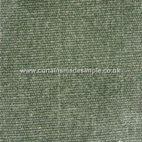 Gobi - 03 - Dusky green and white coloured fabric with a viscose, jute and cotton blend, and a slightly thick, corded texture