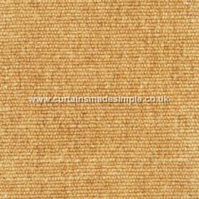 Gobi - 05 - Viscose-jute-cotton blend fabric with a cords running horizontally giving a slight texture in a light orange colour