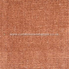 Gobi - 08 - Copper coloured fabric made from a combination of viscose, jute and cotton, which is slightly thick in texture