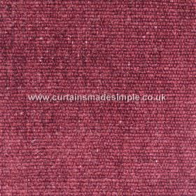 Gobi - 02 - Sturdy viscose, jute and cotton blended fabric in a deep plum colour with some paler flecks and a light corded texture