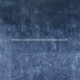 Touch - 14 - Rich blue colouring with some lighter and some darker patches on 100% viscose fabric