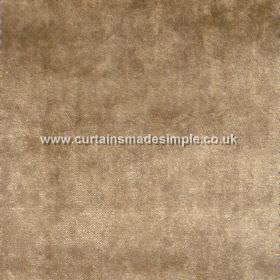 Touch - 01 - Viscose fabric made in a dark gold colour that has a slightly dusty, mottled finish