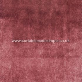 Touch - 08 - Dark, dusky red coloured fabric made from viscose with a slightly patchy, mottled effect