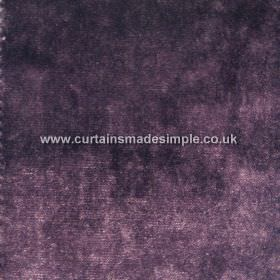 Touch - 09 - Purple coloured viscose fabric with some lighter lilac patches and some areas a darker indigo colour