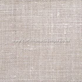 Victoria - 06 - Linen fabric woven from white and mid-brown coloured threads
