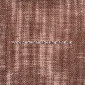Victoria - 02 - Linen fabric made mostly in a reddish brown colour, interwoven with some lighter threads
