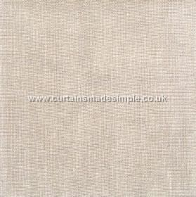 Khan - 16 - Fabric woven from light beige and white linen threads
