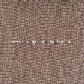 Khan - 01 - A few pale threads interwoven in a predominantly chocolate brown coloured 100% linen fabric