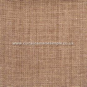 Victoria - 11 - Copper and cream coloured woven fabric with a 100% linen content