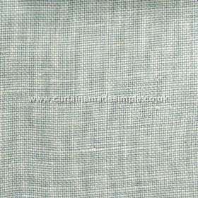 Victoria - 13 - Fabric made from linen in white and duck egg blue