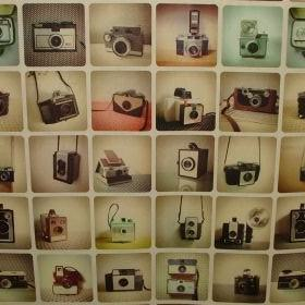 Vintage Cameras - Multi Coloured -