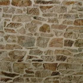 Stone Wall Brick Effect - Multi Coloured -