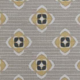 Garden - Ochre Grey - Fabric made from organic cotton in gray featuring ochre pattern