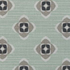 Garden - Green Grey - Gray pattern on light green fabric made from organic cotton