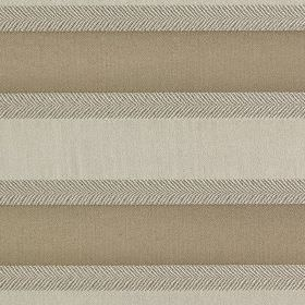 Malibar - Platinum - Light grey, grey-brown and pale grey coloured simple horizontal stripes printed on fabric made from polyester & viscose