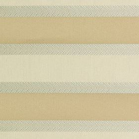 Malibar - Eau De Nil - Fabric made from polyester and viscose, featuring simple horizontal stripes in warm cream, pale grey and off-white colo