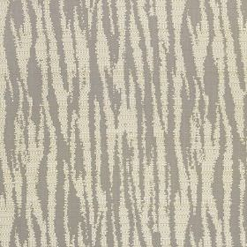 Malindi - Platinum - Fabric made from polyester and viscose, featuring an animal stripe design in chalk white and steel grey colours