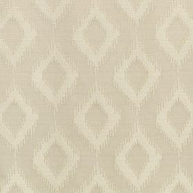 Asmara - Antique White - A subtle design of simple diamonds with rough edges made in two light beige shades on polyester and viscose blend f