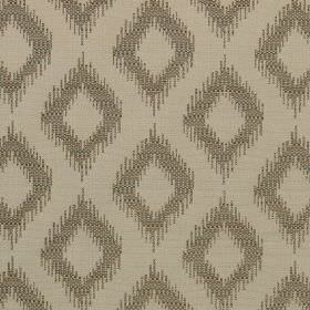 Asmara - Biscuit - Light grey polyester and viscose blend fabric printed with a dark grey design of diamonds with rough, blurred edges