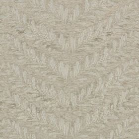 Richmond - Pearl - Light grey shades making up a subtle design of leaves arranged in chevrons on fabric made from various materials
