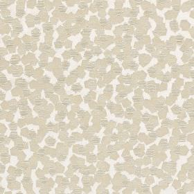 Versailles - Mist - Small solid and striped light grey pentagons scattered over a white polyester and polyacrylic blend fabric background
