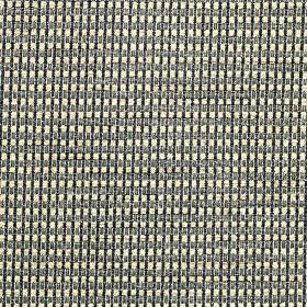 Wilton - Antique Gold - Thin vertical black lines and narrow grey horizontal lines running across white polyester, cotton and linen blend fa