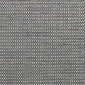 Wilton - Pewter - White, black and steel grey coloured fabric woven from a blend of polyester, cotton and linen