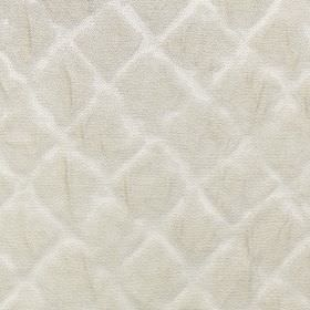 Windsor - Pearl - A very subtle, faded design of simple diamonds arranged neatly on polyester and cotton fabric in light shades of grey