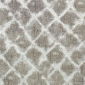 Windsor - Truffle - Very pale grey polyester and cotton blend fabric featuring a soft, roughly printed diamond design in iron grey