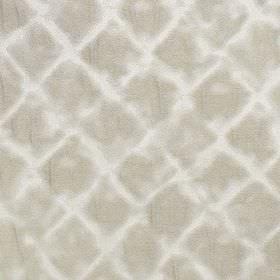 Windsor - Clay - Two light shades of grey making up a soft, subtle, roughly printed diamond design on polyester and cotton blend fabric