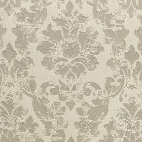 Portland - Pearl - Patchily printed, elegant filigree designs patterning polyester and polyacrylic fabric in two similar light shades of grey