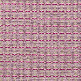 Annapurna - Fuchsia - Polyester, cotton and linen blend fabric covered with a small, simple, repeated pattern in light grey, lilac and fucsh