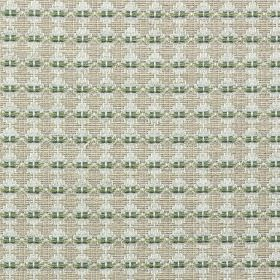 Annapurna - Willow - Fabric made from ash grey, silver-grey and emerald green polyester, cotton and linen, with a small, repeated pattern