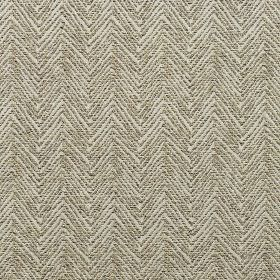 Alnwick - Hessian - Thin, closely spaced, dark grey horizontal zigzag lines printed on light grey cotton, viscose and polyester blend fabric