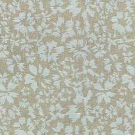 Harlow - Powder Blue - Light, elegant shades of blue and grey making up a contemporary petal design on polyester and cotton blend fabric