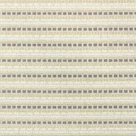 Millgate - Linen - Dashed horizontal lines running across polyester and cotton fabric in dark grey and pastel grey, beige and cream shades