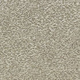 Bowood - Hessian - Dark grey speckles scattered over a light grey cotton, viscose and polyester blend fabric background