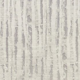 Tatton - Linen - Rough, patchily printed vertical stripes running down fabric blended from different materials in several shades of grey